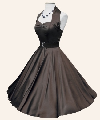 50s style Chocolate brown bridesmaids dresses