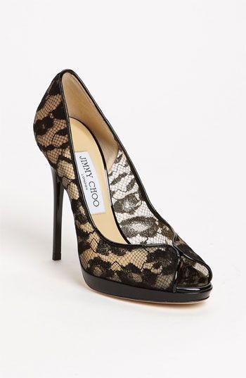 Jimmy Choo 'Blair' Peep Toe Pump... #DesignerShoes... #LadiesStylish