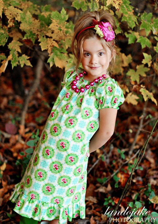 Basic Beginner Peasant Ruffle Dress / Top by spiceberrycottage, $10.00