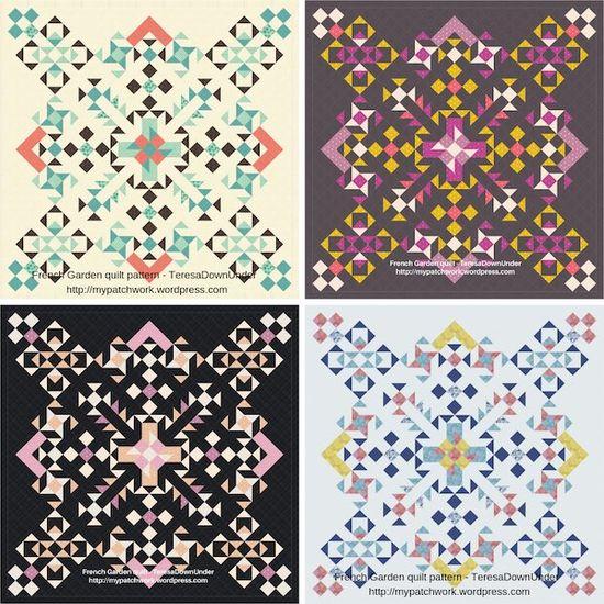 Quilt pattern: French garden – confident beginner level | Sewn Up