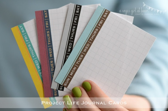 Project Life Journal Cards