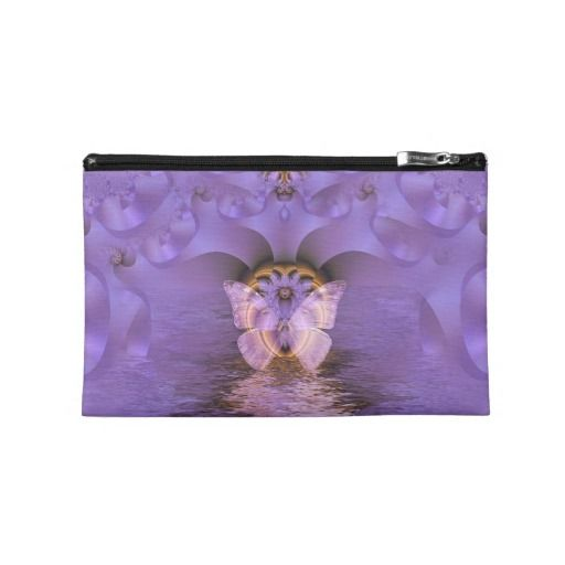 Purple Butterfly Abstract Travel Accessory Bags