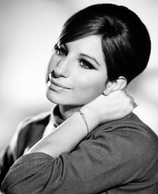 "January 1960 -- In this iconic photo, Barbra poses for a photo call for ""Funny Girl."""