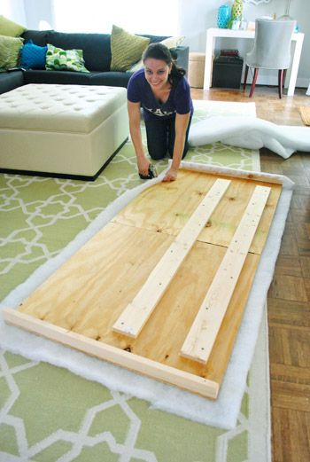 How to make an upholstered headboard. It's super easy.