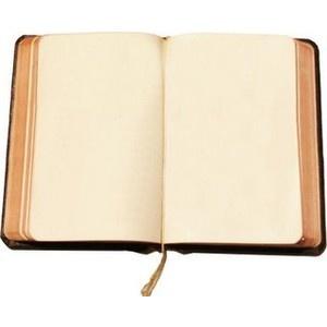 Empty travel diary