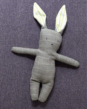 Toy Bunnies to sew - pattern and instructions