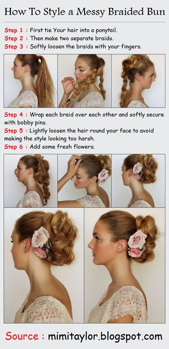 ~ DIY How To Style a Messy Braided Bun~