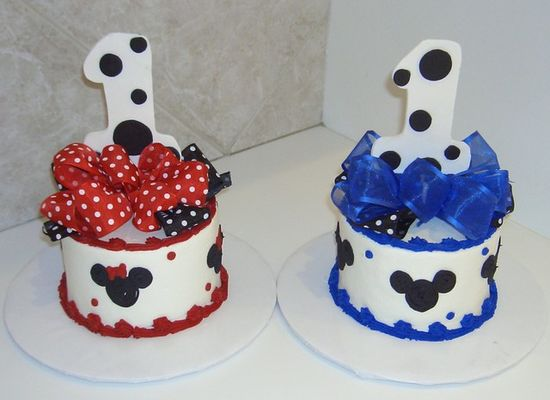 Mickey Mouse Smash Cake: Mickey Mouse 1st Birthday Ideas