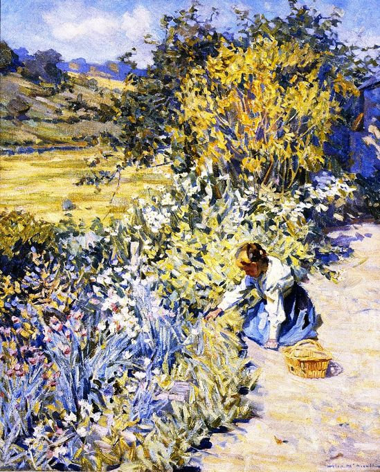 Gathering Flowers (Helen Galloway McNicoll - )