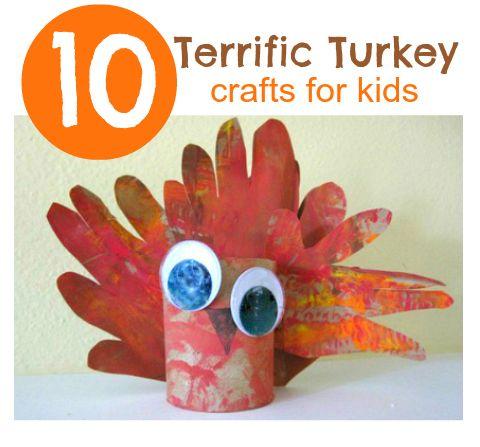 10 Terrific Turkey Crafts for Kids