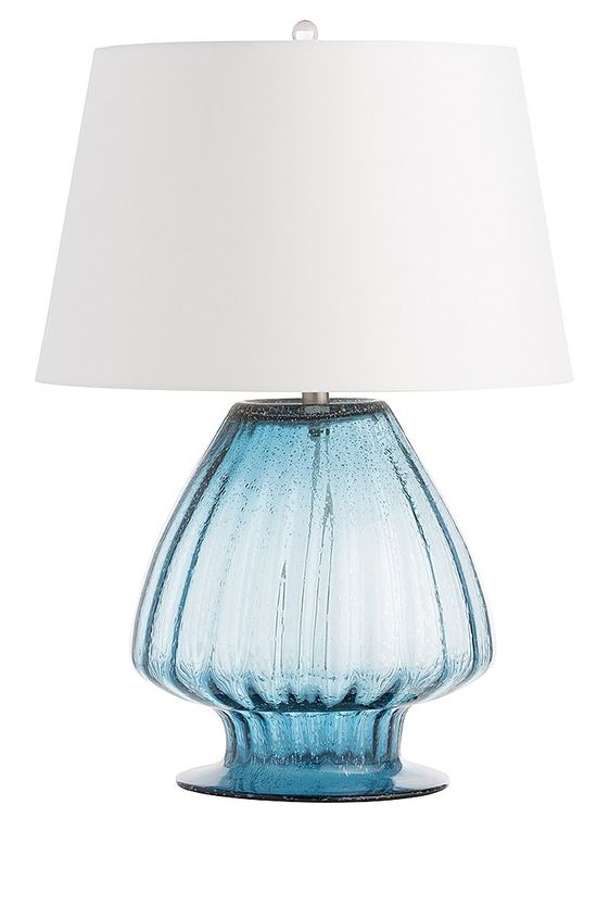 Designer Lighting Ideas, from Hollywood, Beautiful Blue Art Glass Table Lamp, Over, 3500 Luxury Home Decor inspirations to enjoy,  including Beautiful Living Room and Bedrooms Lighting ideas, share and inspire your friends and followers with Pins from InStyle Decor with our easy 1 Click Pinterest Pin Button enjoy & happy pinning