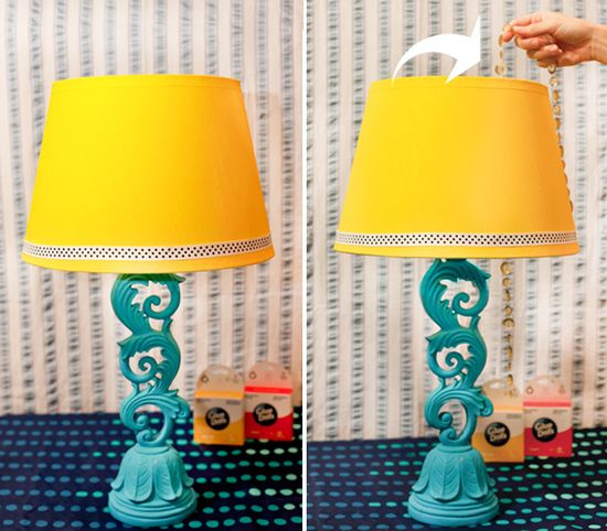 spray paint lampshade