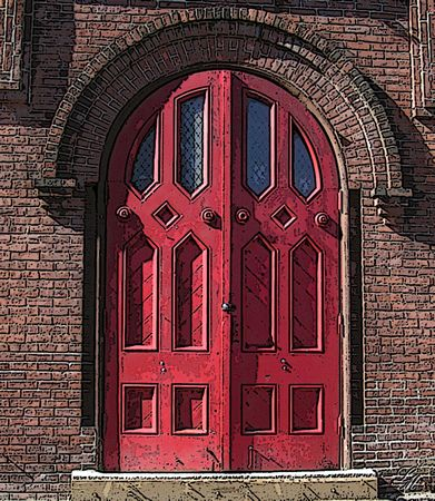 Old Unitarian Church, Ware, Massachusetts.. they tore it down.. I only hope they saved the awesome doors!