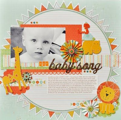 scrapbook layout