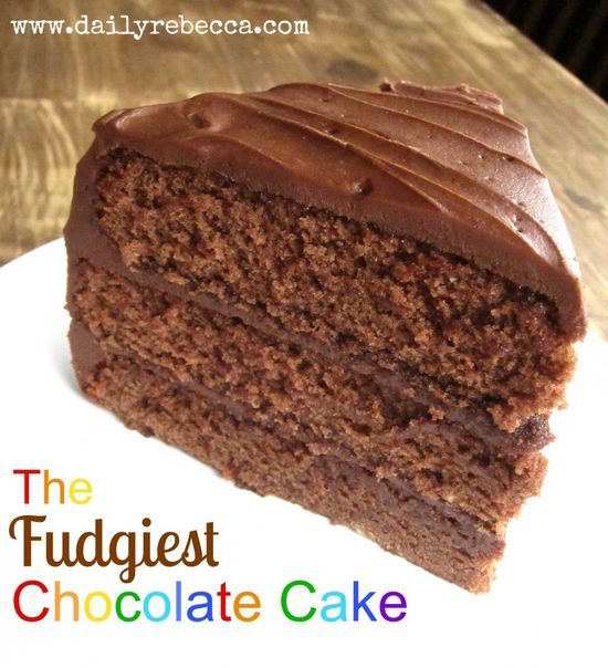 The fudgiest chocolate cakeDaily Rebecca