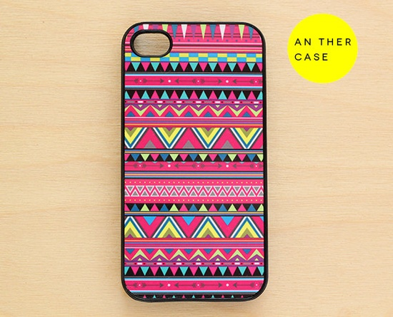 iphone 4 case, iphone 4s case - Aztec print, tribal, psychedelic, pink. $16.00, via Etsy.
