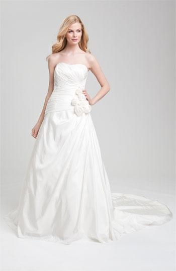 Faviana Ruched Taffeta Strapless Gown @Nordstrom #WeddingSuite #Nordstrom