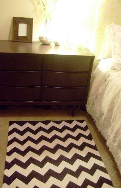 Make a terrific chevron rug - tutorial