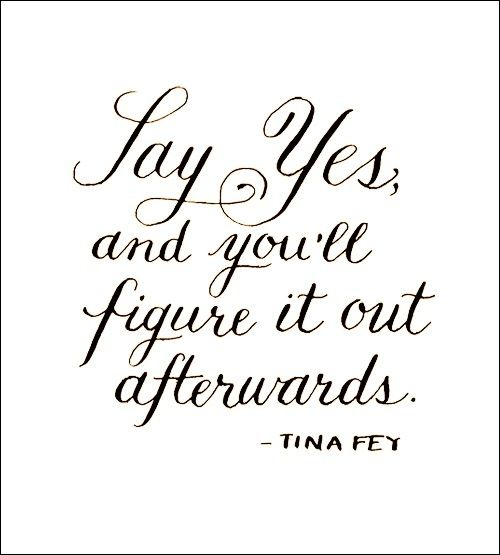 Say yes! #NOQUITMONDAY