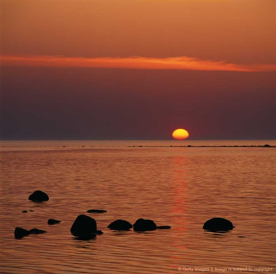 Sunrise over the Baltic Sea, Sweden