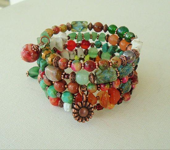 Boho Bracelet Southwest Jewelry Bohemian Style by BohoStyleMe