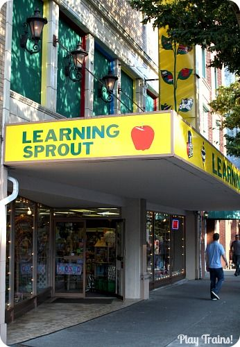 Learning Sprout Toys: Join Play Trains! for a tour of our favorite toy store to play trains at in Tacoma, Washington, plus a few great gift ideas for train loving kids no matter where they live.