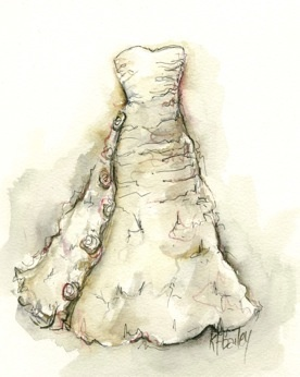 a lovely way to enjoy your wedding gown for many years...with a custom sketch!