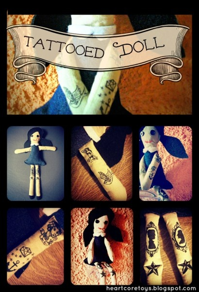 HEARTCORE: Handmade Tattooed Doll