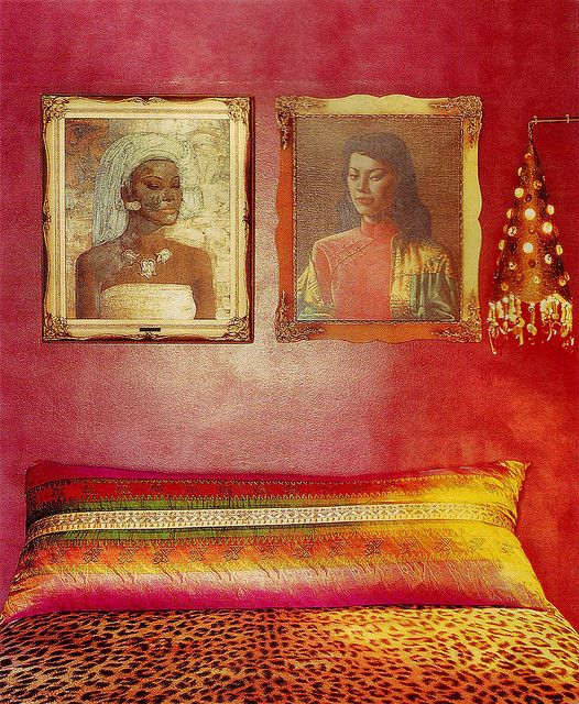 From Interiors Book 'Seeing Red' by Stephanie Hoppe