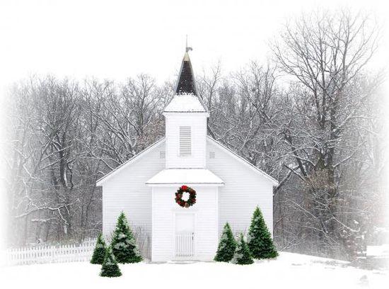 Snow white church