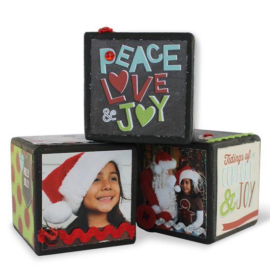 Christmas Home Decor Blocks kit