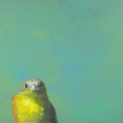 Yellow & green bird art