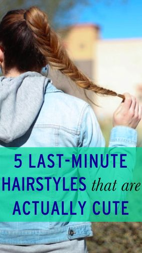 5 hairstyles you can do in 5 minutes or less