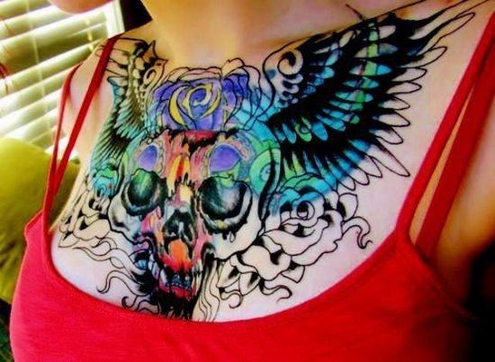 skull chest piece