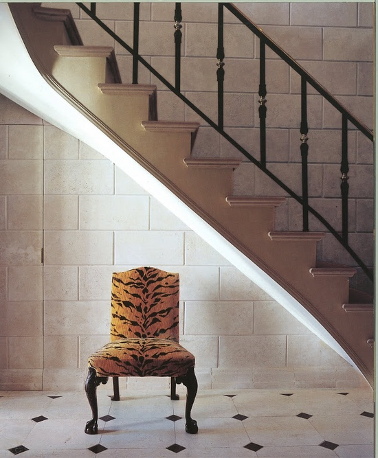 Tiger print chair / A Passion for Interiors, Carolyn Roehm
