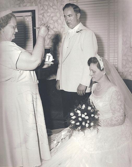 found wedding photo