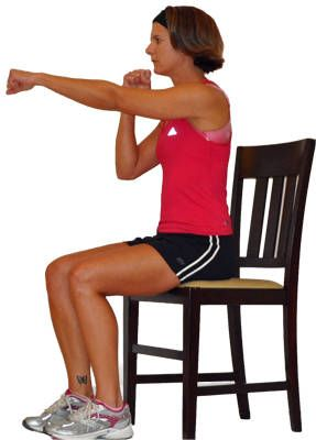 Seated Upper Body Workout - good if there's a leg/foot injury