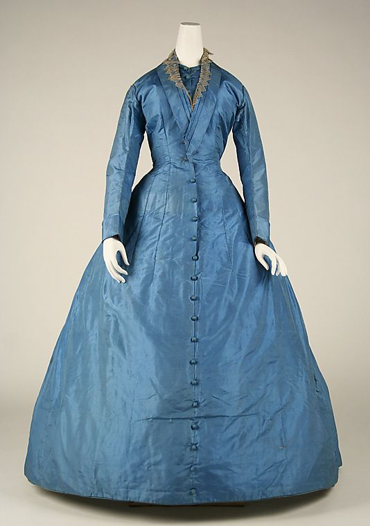 Dress (1858-68) Love the button up the front
