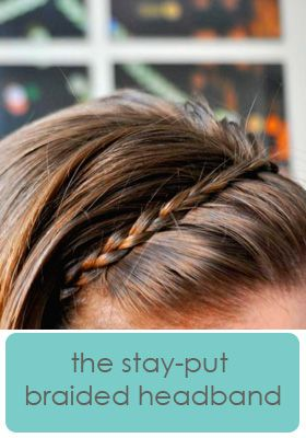 stay put headband...amazingly simple! And more hair tutorials