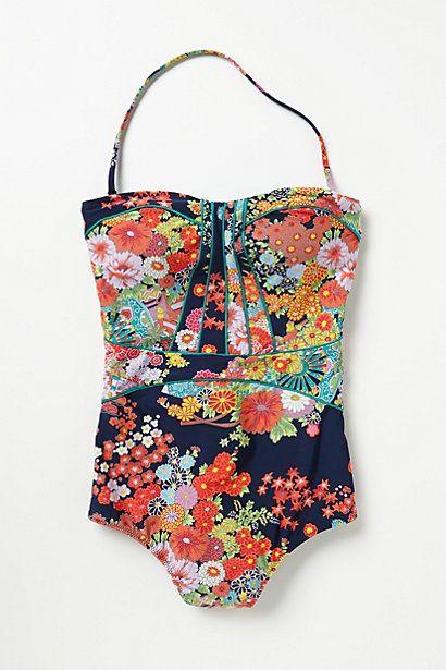 kimono print bathing suit...