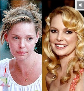 Blush-Off: Celebrities with Make-Up vs No Makeup