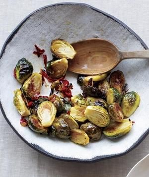Spicy Glazed Brussels Sprouts recipe