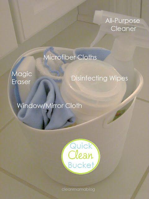 Clean + Organized – Quick Clean Bucket - Clean Mama