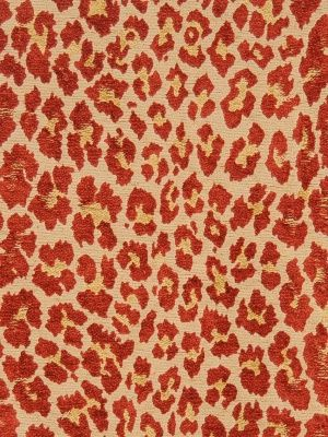 S. Harris Fabrics Leopard-Flame $128.25 Price Per Yard #Interiors #Decor #Animalprints