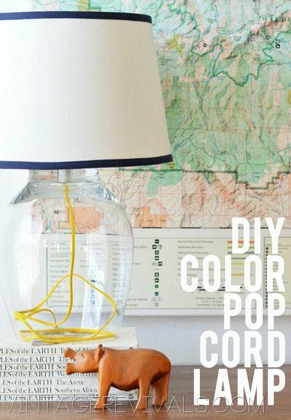 DIY Color Pop Cord Lamp Tutorial