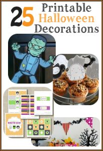 We love Halloween, and this list of 25 Printable Halloween Decorations from FreebieFindingMom... is a great way to add spooky decor to your home! #Halloween #Printables