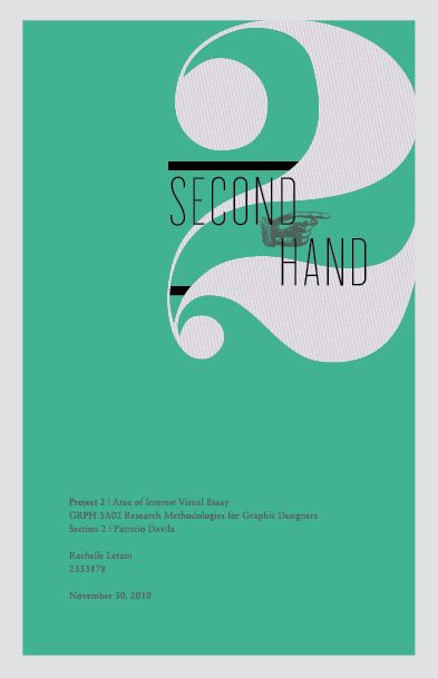 Secondhand - Book cover design by Rachelle Letain