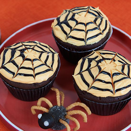 Baby Spider Cupcakes #Cupcakes #Halloween #Recipes