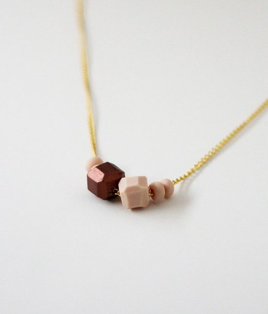 new pink & copper necklace