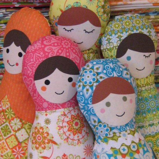 Matryoshka Doll  Soft Toy Sewing Pattern by tictacandtoe, $8.00
